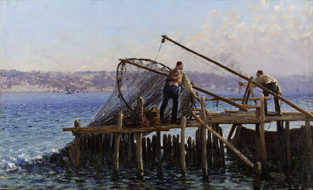 Fausto Zonaro, 'Fishermen Bringing in the Catch', Late 19th Century -Early 20th Century