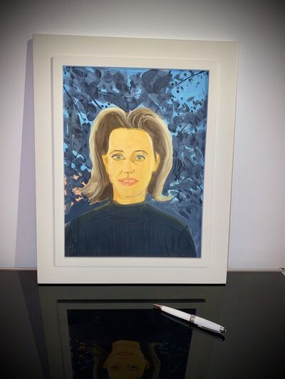 Alex Katz, 'Study for Black Sweater (Small Painting)', 1997