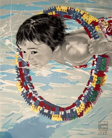 """Loulou Picasso, 'Loulou Picasso - Boy Swimming - 1983 Lithograph 34.75"""" x 27""""', 1983"""