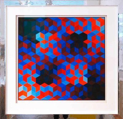 Victor Vasarely, 'Hommage a la Hexagone VI, 1969', 1969
