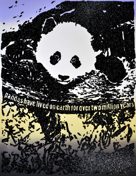 Rob Pruitt, 'Giant Pandas Spend About 12 Hours a Day Eating Up to 15 Kilograms of Bamboo. Bamboo is Rich in Protein as Well as Fibre, Which is Why They Poop Up to 50 Times a Day! Sometimes They Eat and Poop at the Same Time.', 2019