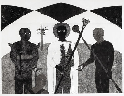 Belkis Ayón, 'La consagración II (The Consecration II)', 1991