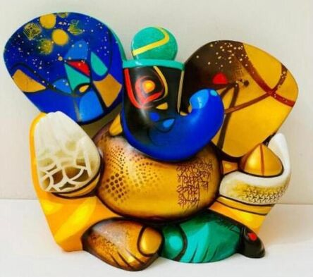 """Om Swami, 'Mood and Melody Ganesha, Acrylic on Fiber Glass by Contemporary Indian Artist """"In Stock""""', 2015-2021"""
