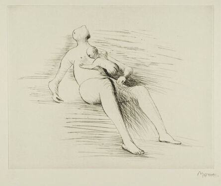 Henry Moore, 'Recling Mother And Child II', 1979