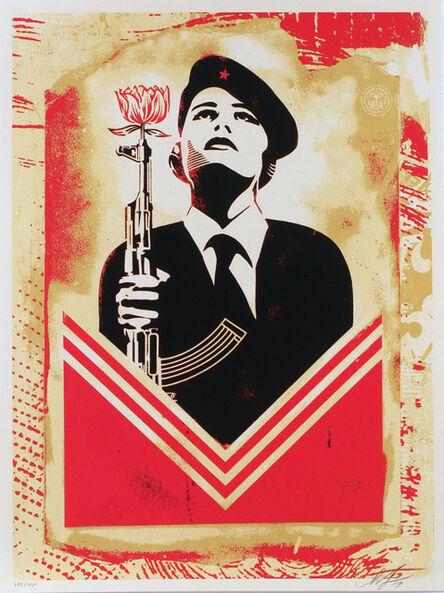 Shepard Fairey, 'Peace Guard 2 Stencil Lisbon', 2017