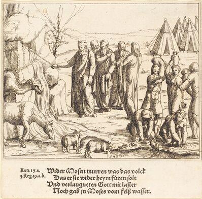 Augustin Hirschvogel, 'Moses Striking the Rock', 1548