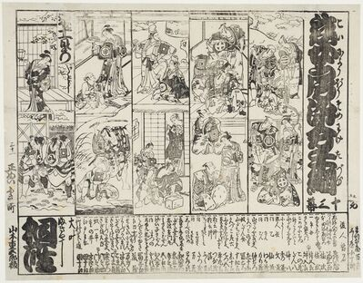 Unknown Artist, 'Program from a kabuki theatre', Second half of the 18th century