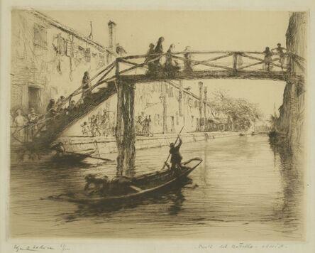 Edgar Chahine, 'Ponte del Bottello, Venice', ca. 1922