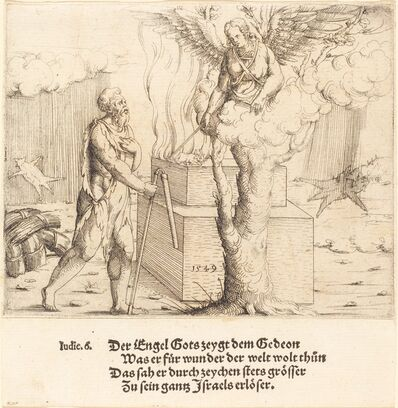 Augustin Hirschvogel, 'The Sacrifice of Gideon', 1549
