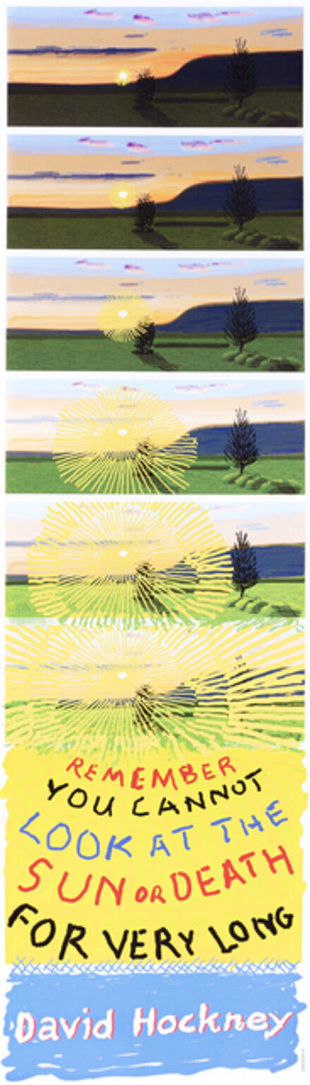 David Hockney, 'Remember That You Cannot Look At The Sun Or Death For Very Long', 2021