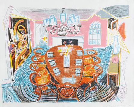 David Hockney, 'Tyler Dining Room, from Moving Focus', 1985