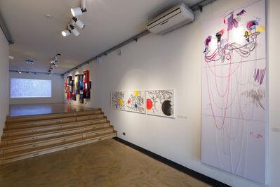 Tanya Akhmetgalieva, 'Flicker III. Exposition view.Textiles, embroidery, threads.', 2014