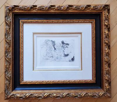 Pablo Picasso, 'Vieillard assis avec une femme et danseuse', 1968