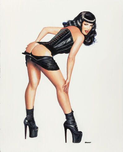 Ron Lesser, 'Whoops! (Bettie Page)'