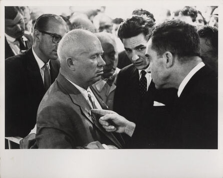 Elliott Erwitt, 'Nikita Khrushchev & Richard Nixon, Moscow', 1959