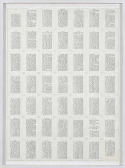 Irma Blank, 'Trascrizioni, Thinking II', 1974
