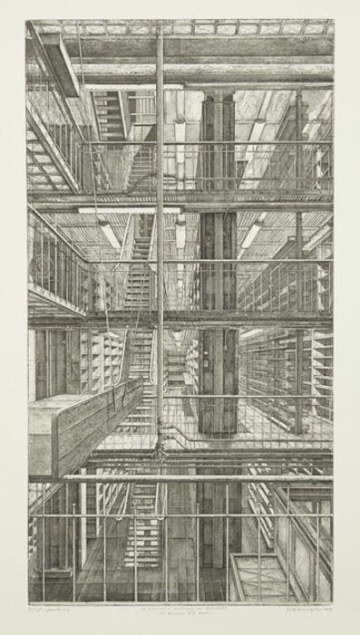 Erik Desmazières, 'Les Réserves est-ouest, from Le Magasin central des imprimés', 2013