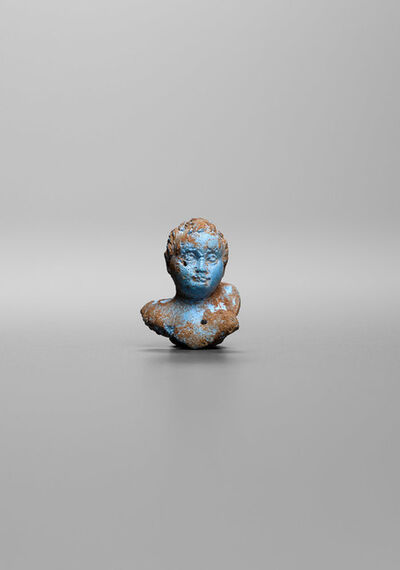 Unknown Roman, 'Ancient Roman Faience Bust of a Child', Roman Imperial Period (1st century B.C. 1st century A.D.)