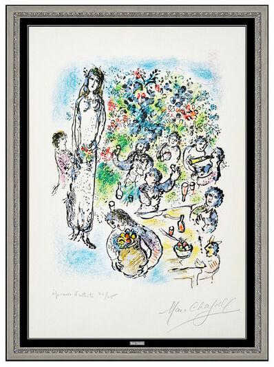 Marc Chagall, 'Marc Chagall Hand Signed Color Lithograph Sur La Terre Des Dieux Framed Artwork', 1967
