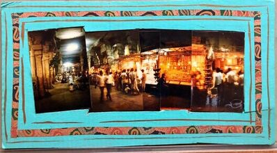 Kim MacConnel, 'Sri Ranganathanswamy Temple, Trichi, 1992, Photo Prints on Cardboard, Collage', 1990-1999