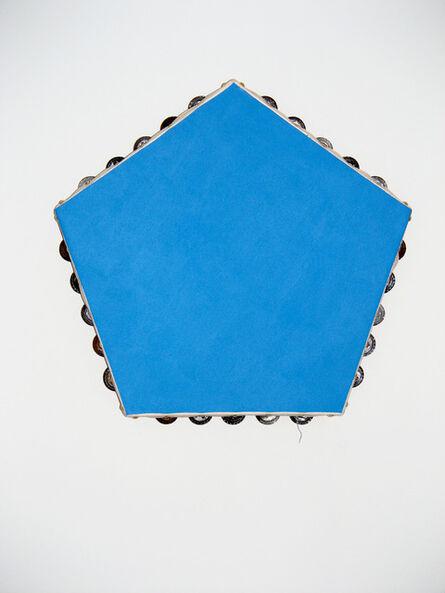 Scoli Acosta, 'Blue Pentagonal Monochrome (tambourines)', 2012-2014