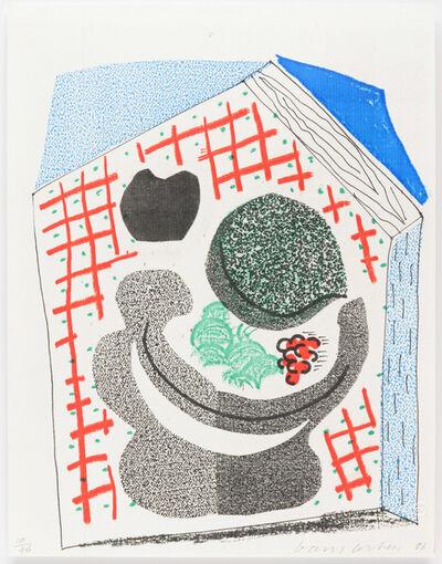 David Hockney, 'Bowl of Fruit, April 1986', 1986