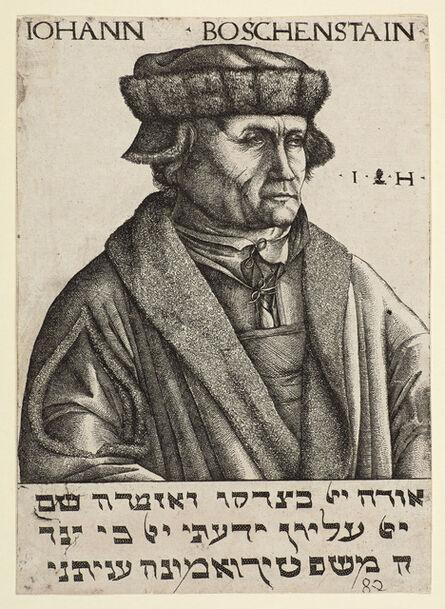 Hieronymus Hopfer, 'Portrait of Johann Boschenstain', 1530
