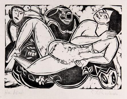 Ernst Ludwig Kirchner, 'Liegender Akt', 1911