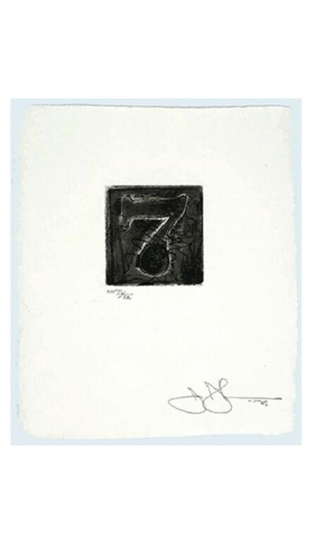 Jasper Johns, 'Numeral 7', 1975