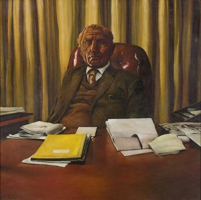 Bikash Bhattacharjee, 'In His Office', 1982