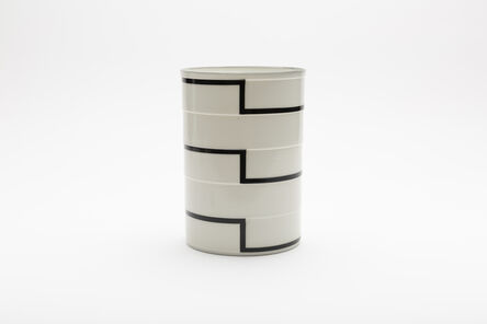 "Bodil Manz, 'Cylinder No. 3a ""Black Stripes""', 2018"