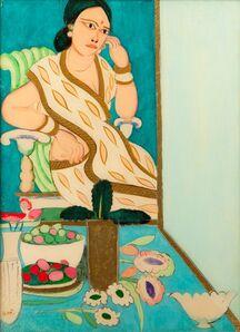K. G. Subramanyan, 'Seated woman', 1980