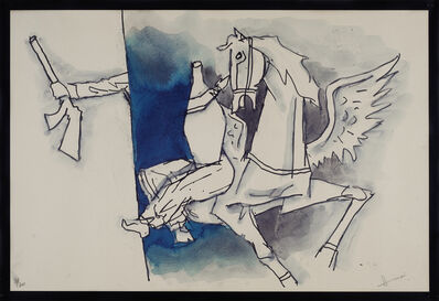 M. F. Husain, 'Thief of Baghdad - 7', 2003