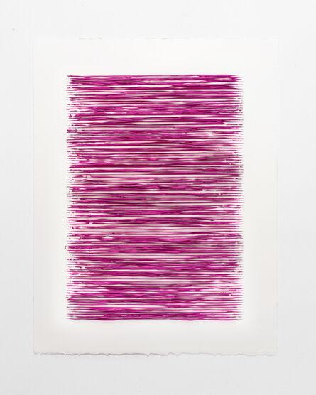 Lars Christensen, 'Color structure #10 (permanent red violet light)', 2019