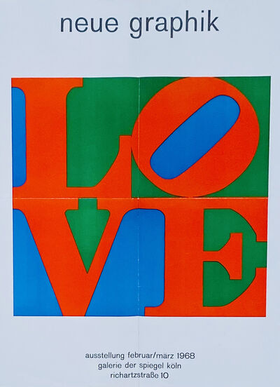 Robert Indiana, 'Robert Indiana Love Man Ray Objects poster', 1968