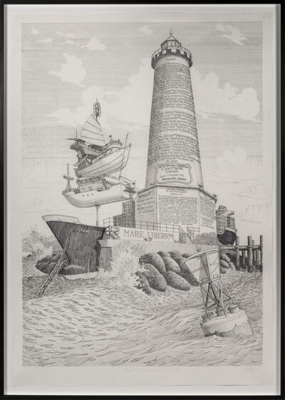 Sandow Birk, 'Proposal for a Monument to the Free Sea', 2015