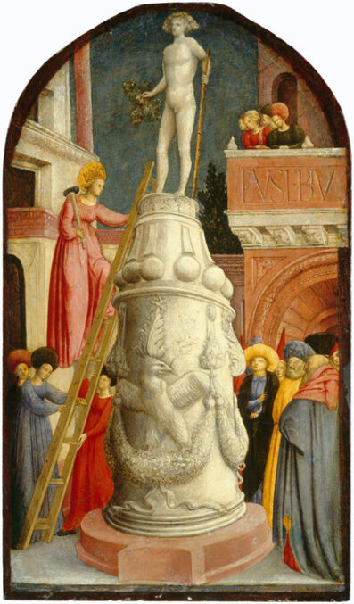 Giovanni d'Alemagna, 'Saint Apollonia Destroys a Pagan Idol', ca. 1442/1445