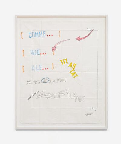Lawrence Weiner, 'WIE', 2012