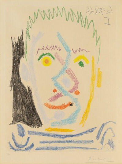 Pablo Picasso, 'Head of Man in Striped Jersey', 1964
