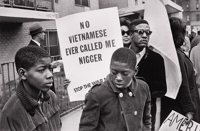 Builder Levy, 'Harlem Peace March ( No Vietnamese...) NYC', 1967
