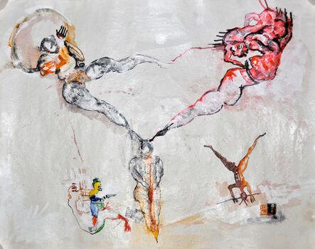 Dominique Zinkpè, 'Deux têtes, six pieds', 2013