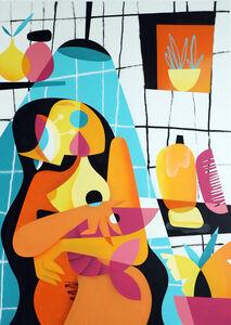 Ruben Sanchez, 'Shower with lobster', 2020