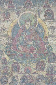 Yang Mian 杨冕, 'CMYK - Tibetan Buddhist master lianhuasheng', 2020