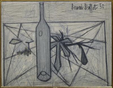 Bernard Buffet, 'Bouteille et feuille de figuier', 1950