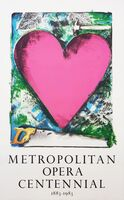 Jim Dine, 'A Heart at the Opera (Signed)', 1983