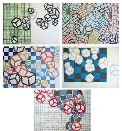 Mel Bochner, 'Floating World (Ukiyo-E) [Set of Five Prints]', 1990