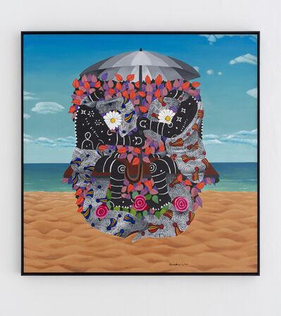 Kelechi Nwaneri, 'Portrait of a human skull', 2020