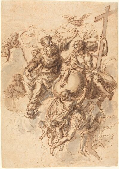 Bartholomäus Ignaz Weiss, 'The Trinity Surrounded by Angels', ca. 1770