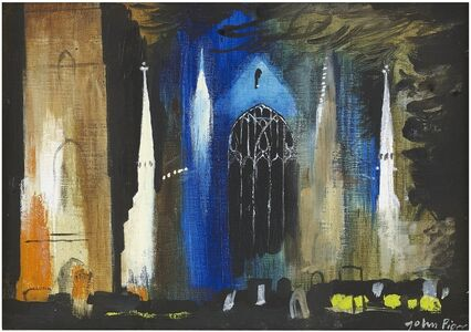 John Piper, 'Terrington St Clement', 1980