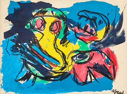 Karel Appel, 'Oiseaux et Tête', 1961